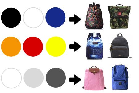 色のリュックの選び方